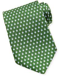 Corbata a lunares verde