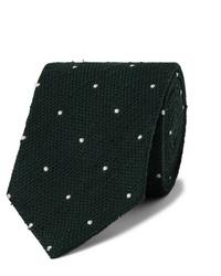 Corbata a lunares verde oscuro de Drake's