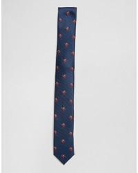 Corbata azul marino de Asos