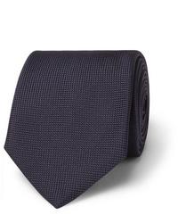 Corbata azul marino de Brioni