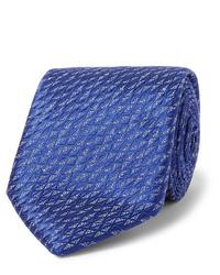 Corbata azul de Charvet