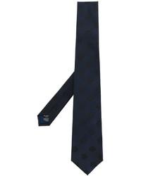 Corbata bordada azul marino de Kenzo