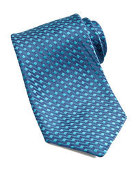 Corbata bordada azul