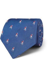 Corbata bordada azul de Paul Smith
