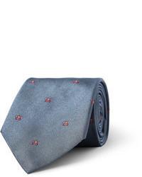Corbata bordada azul de Richard James