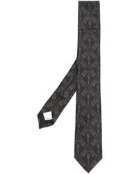 Corbata bordada en marrón oscuro de Valentino