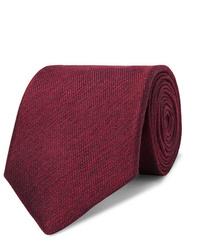 Corbata burdeos de Charvet