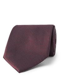 Corbata burdeos de Ermenegildo Zegna