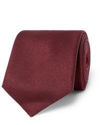 Corbata burdeos de Sulka