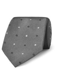 Corbata con estampado geométrico gris de Turnbull & Asser