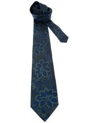 Corbata con print de flores azul marino de Fendi