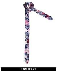 Corbata con print de flores en multicolor de Reclaimed Vintage