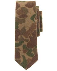 Corbata de camuflaje verde oliva