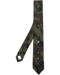 Corbata de camuflaje verde oliva de Valentino