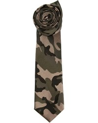 Corbata de camuflaje verde oscuro