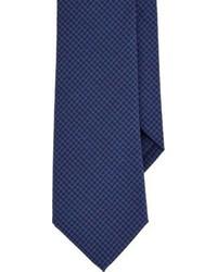Corbata de cuadro vichy azul marino