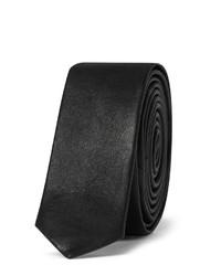 Corbata de cuero negra