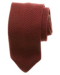 Corbata de espiguilla burdeos