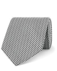 Corbata de espiguilla en gris oscuro de Etro