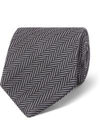 Corbata de espiguilla en gris oscuro de Tom Ford