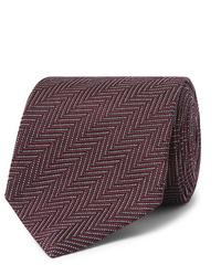 Corbata de espiguilla morado oscuro de Tom Ford