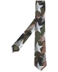 Corbata de estrellas verde oliva de Valentino Garavani