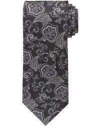 Corbata de Flores Negra