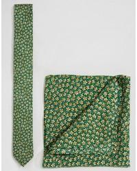 Corbata de Flores Verde de Asos