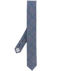 Corbata de lana a cuadros azul de Eleventy