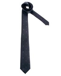 Corbata de lana a lunares en azul marino y blanco de Asos