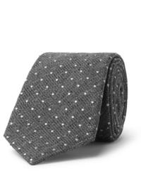 Corbata de lana a lunares gris de Canali