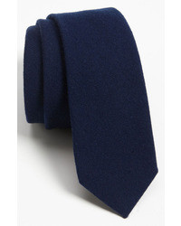 Corbata de lana azul marino