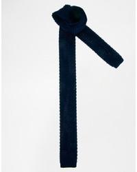 Corbata de lana azul marino de Asos