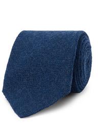 Corbata de lana azul marino de Lardini