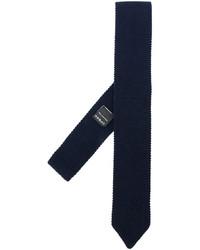 Corbata de lana azul marino de Z Zegna