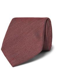 Corbata de lana burdeos de Ermenegildo Zegna