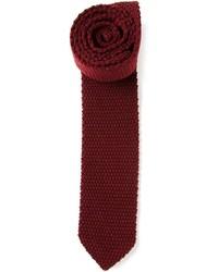 Corbata de lana burdeos de Z Zegna