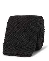 Corbata de lana de punto negra de Paul Smith
