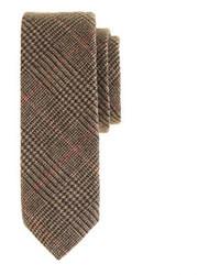 Corbata de lana de tartán marrón