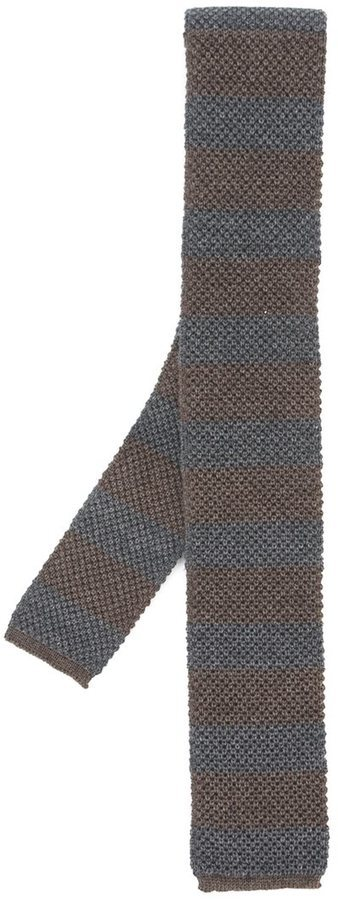 Corbata de lana en gris oscuro de Eleventy