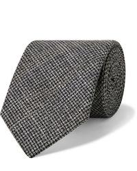 Corbata de lana en gris oscuro de Oliver Spencer