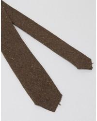 Corbata de lana marrón de Asos