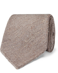 Corbata de lana marrón de Thom Sweeney
