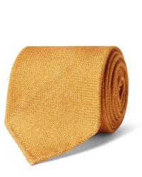 Corbata de lana naranja de Drake's