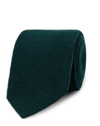 Corbata de lana verde oscuro de Lardini