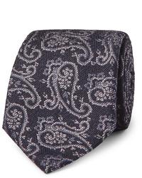 Corbata de paisley azul marino de Etro