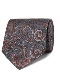 Corbata de paisley en gris oscuro de Sulka