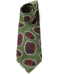 Corbata de paisley verde oliva de Valentino