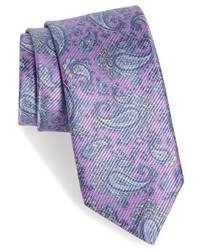 Corbata de paisley violeta claro