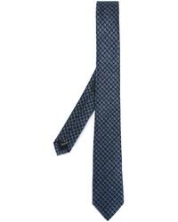 Corbata de pata de gallo azul marino de Z Zegna